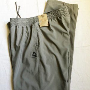 Pants athletic mens new size XL grey polyester